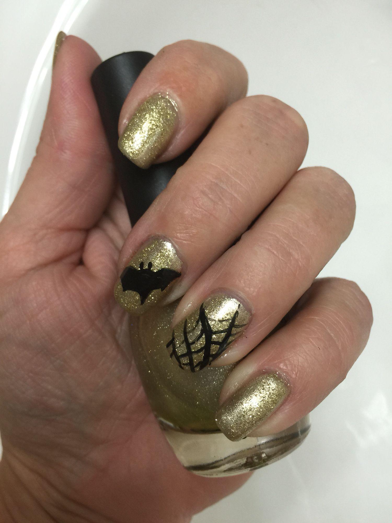 Goddess Gold Halloween nails. | Halloween nails, Gel nail ...