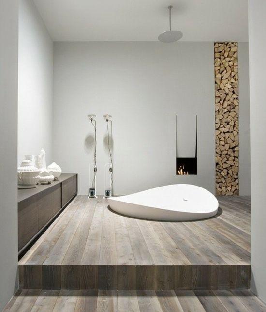 Kamin Badewanne Landhausstil WC/Bad Pinterest Badewannen
