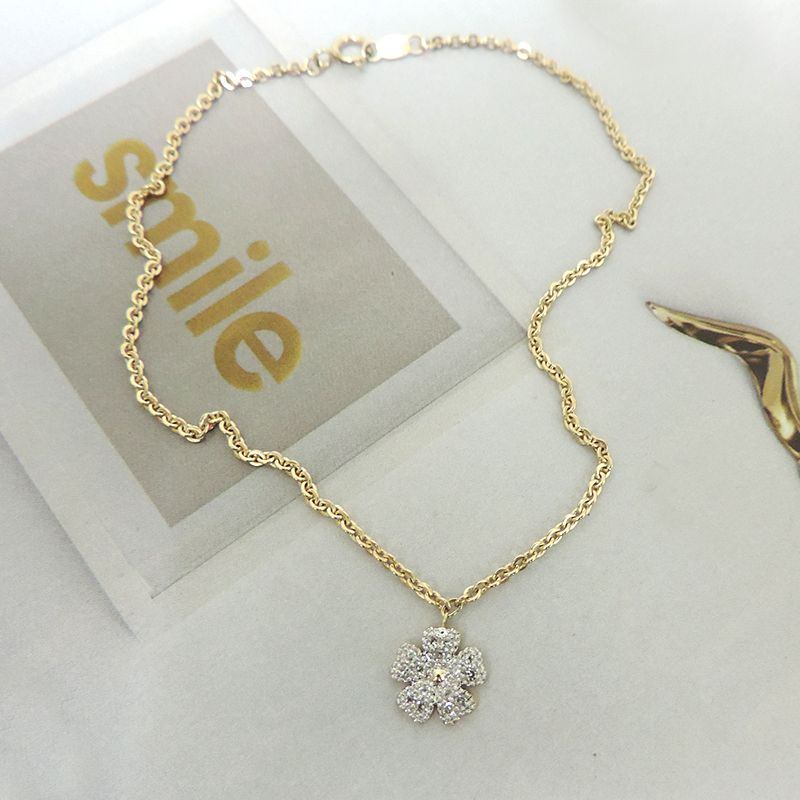 gold rope v anklet two heart tone diamond twotone cut diamondcut double p