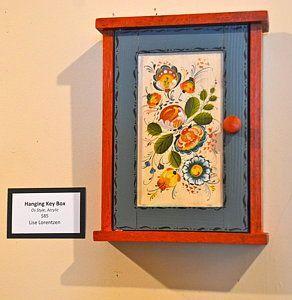 Decorative Key Box For The Wall Rosemaling Photograph  Beautiful Hanging Key Boxlise