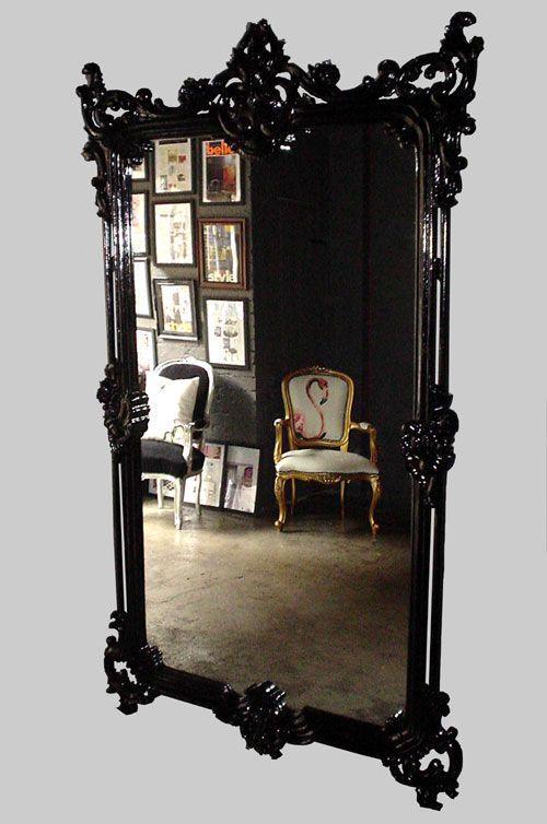 Pin von amina auf bedroom closet spiegel m bel und - Schwarzer barock spiegel ...