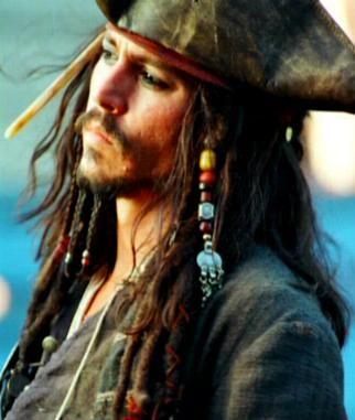 Capt Jack Sparrow in Disney's Pirates of the Caribbean