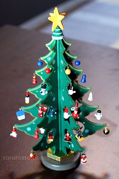 a little wooden Christmas tree | The Most Wonderful Time of the ...