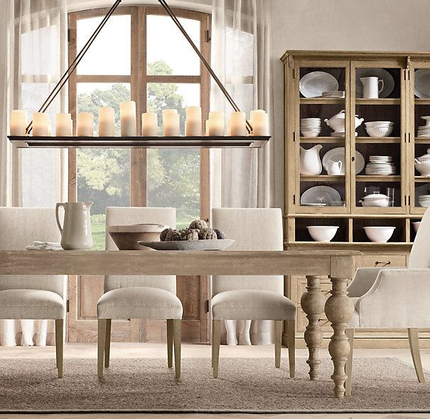 Unique Rectangular Dining Room Chandeliers: Grand Baluster Rectangular Extension Dining Table