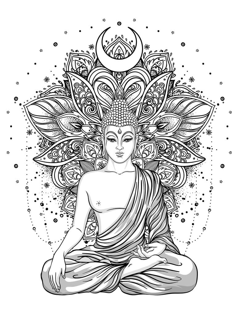 Instant Download Tattoo Design Oriental Buddha