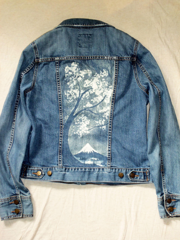Women S Old Navy Denim Jacket Size Medium With Bleach Etsy Denim Jacket Navy Denim Jacket Jackets [ 3000 x 2250 Pixel ]