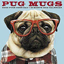 Pug Mugs 2018 Wall Calendar Dog Breed