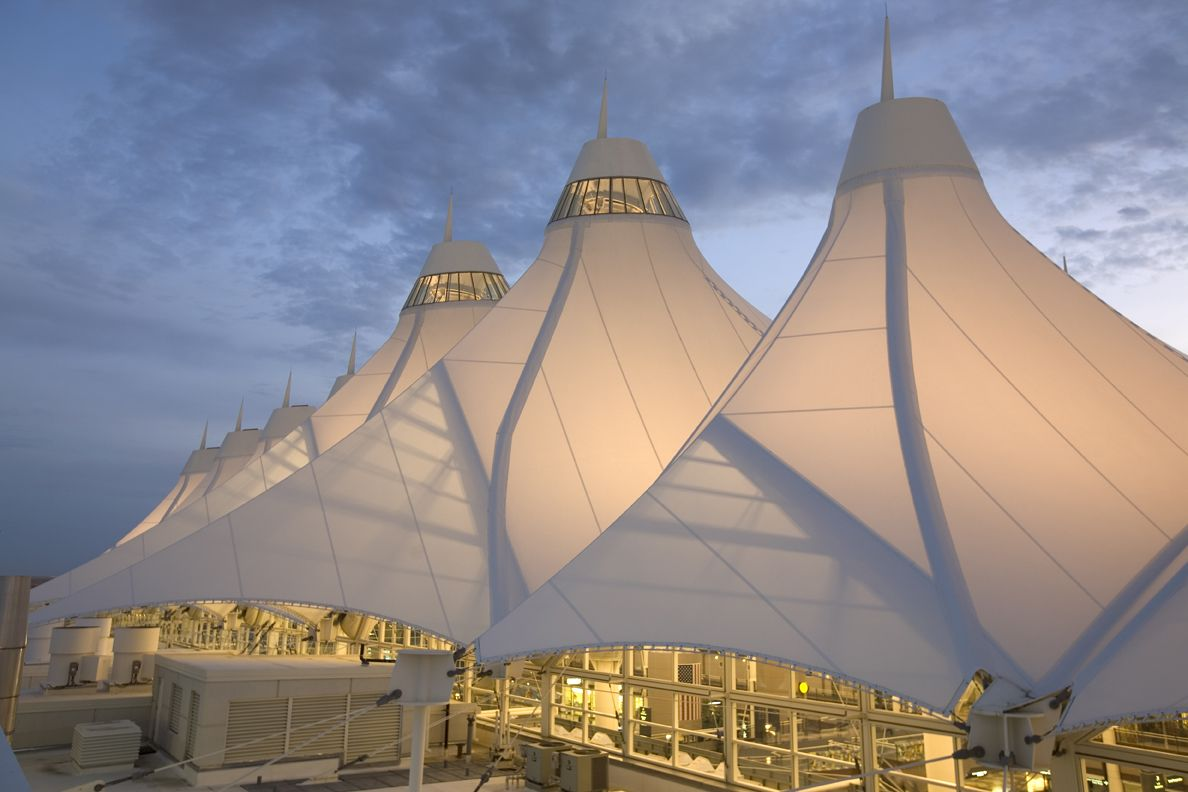 The Jeppesen Terminal Roof At Denver International Airport Is 126u0027 From The  Terminal Floor To
