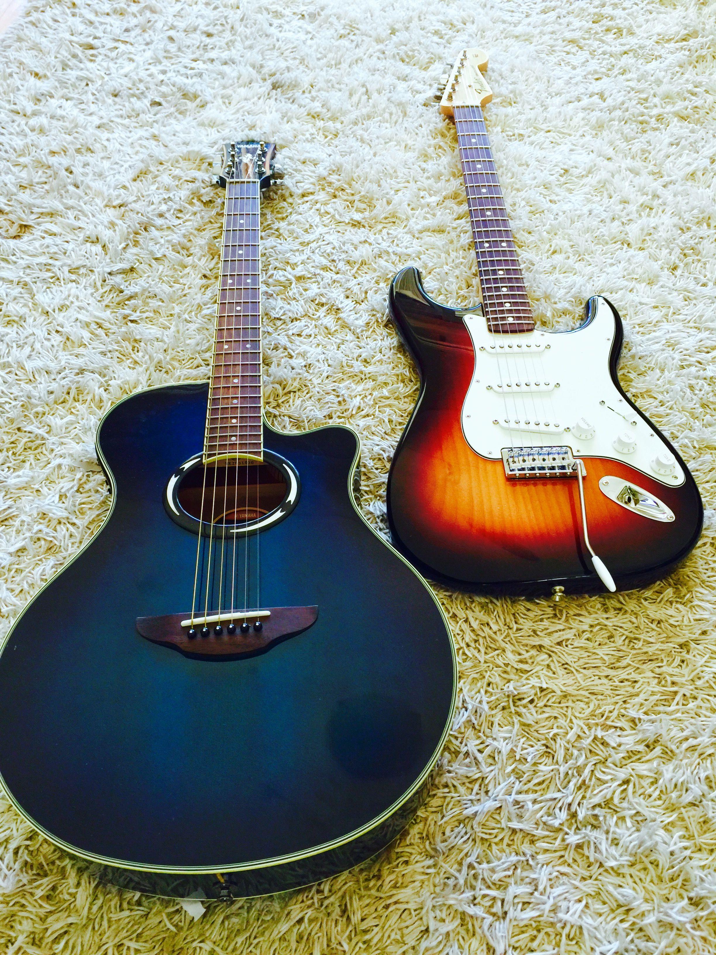 Fender Standard Stratacaster Yamaha Apx500 Acoustic Guitar Acoustic Music Instruments