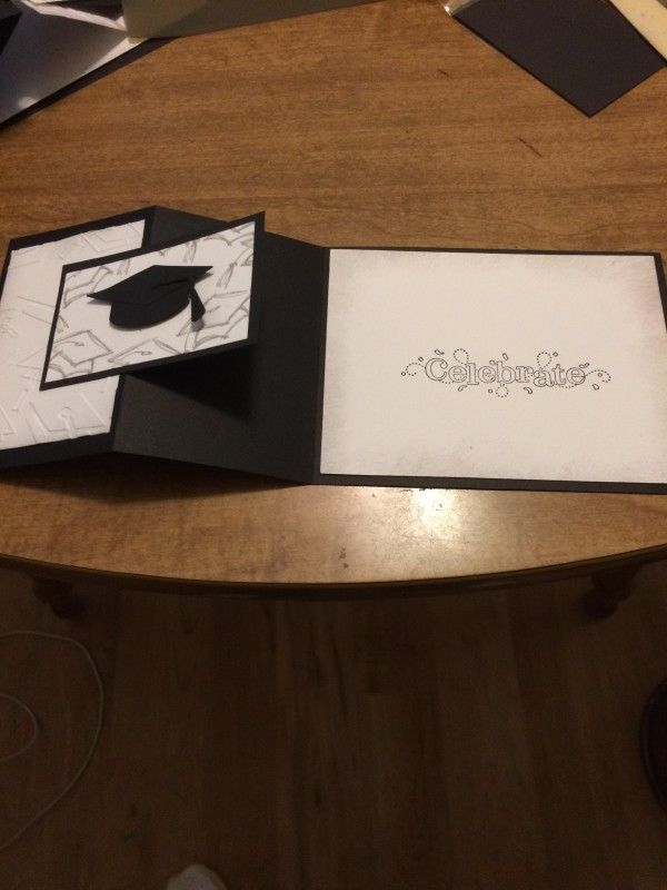 Photo of Graduation Z-Fold inside by JoanTallent – Cards and Paper Crafts at Splitcoaststampers
