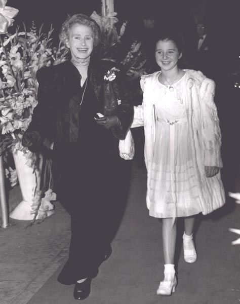 Virginia Weidler with her mother German opera singer Margaret Louise Therese