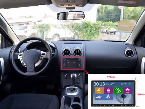 """Double 2 Din 7"""" GPS Car DVD MP3 Player Touch Screen In Dash Stereo+Backup Camera"""