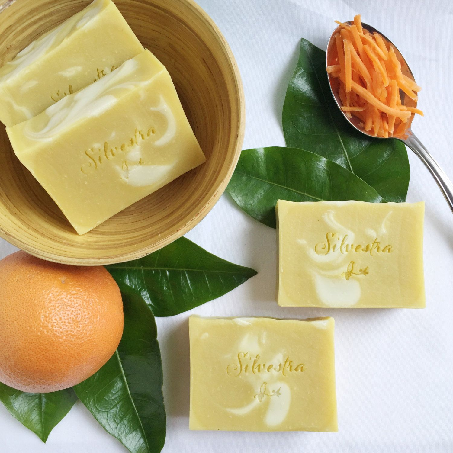 Carrot & Orange Soap Bar / Essential Oil All by SilvestraPureSoap