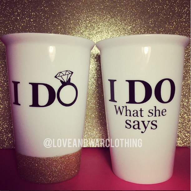 I do - I do what she says wedding coffee tumbler SET - LOVEANDWARCLOTHING