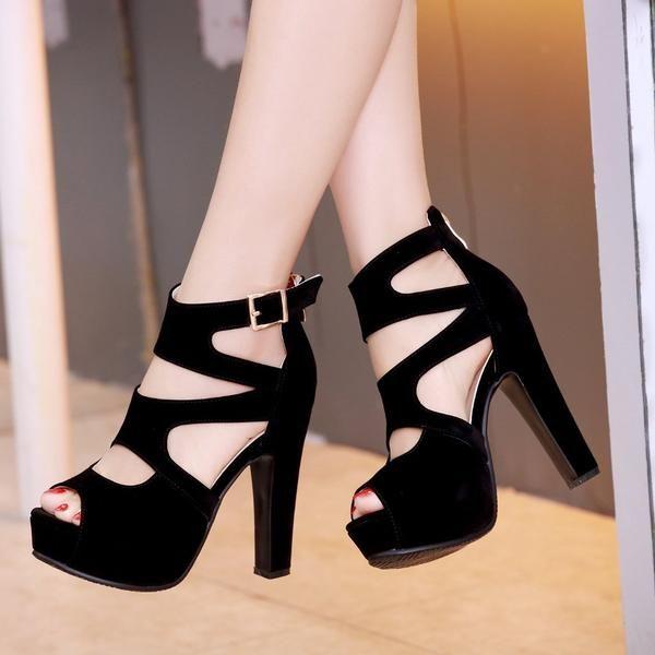 Thick Heel Platform Shoes High Heels Women's Sandals