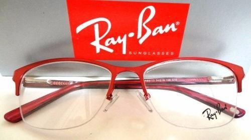 armação óculos de grau rb9113 vermelho feminino + estojo   Óculos add376bc96