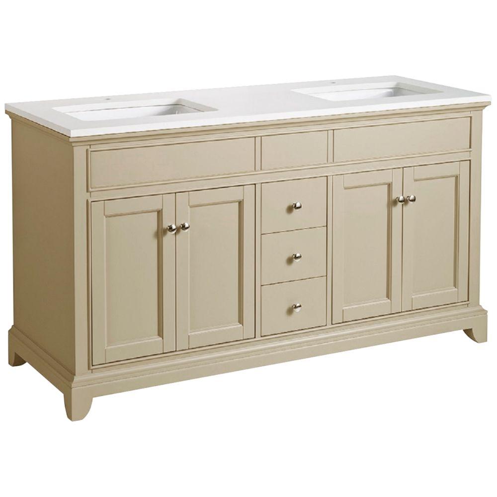 Erin 59 Taupe Double Sink Bathroom Vanity Style 10h72