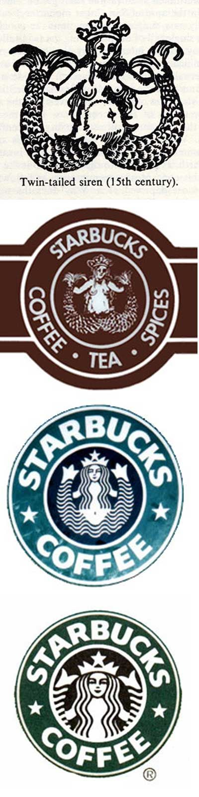 """""""It was the intention of the original Starbucks founders to use the mermaid/siren to represent the seduction of the sea going mariners. In continuing with the metaphor, they were simply replacing the sirens seductive songs with the their tasty irresistible beverages. In Moby Dick, Starbuck was a sailor who loved coffee. Sailors would jump out of boats once they heard the sirens' songs. So it means that it is irresistible."""""""