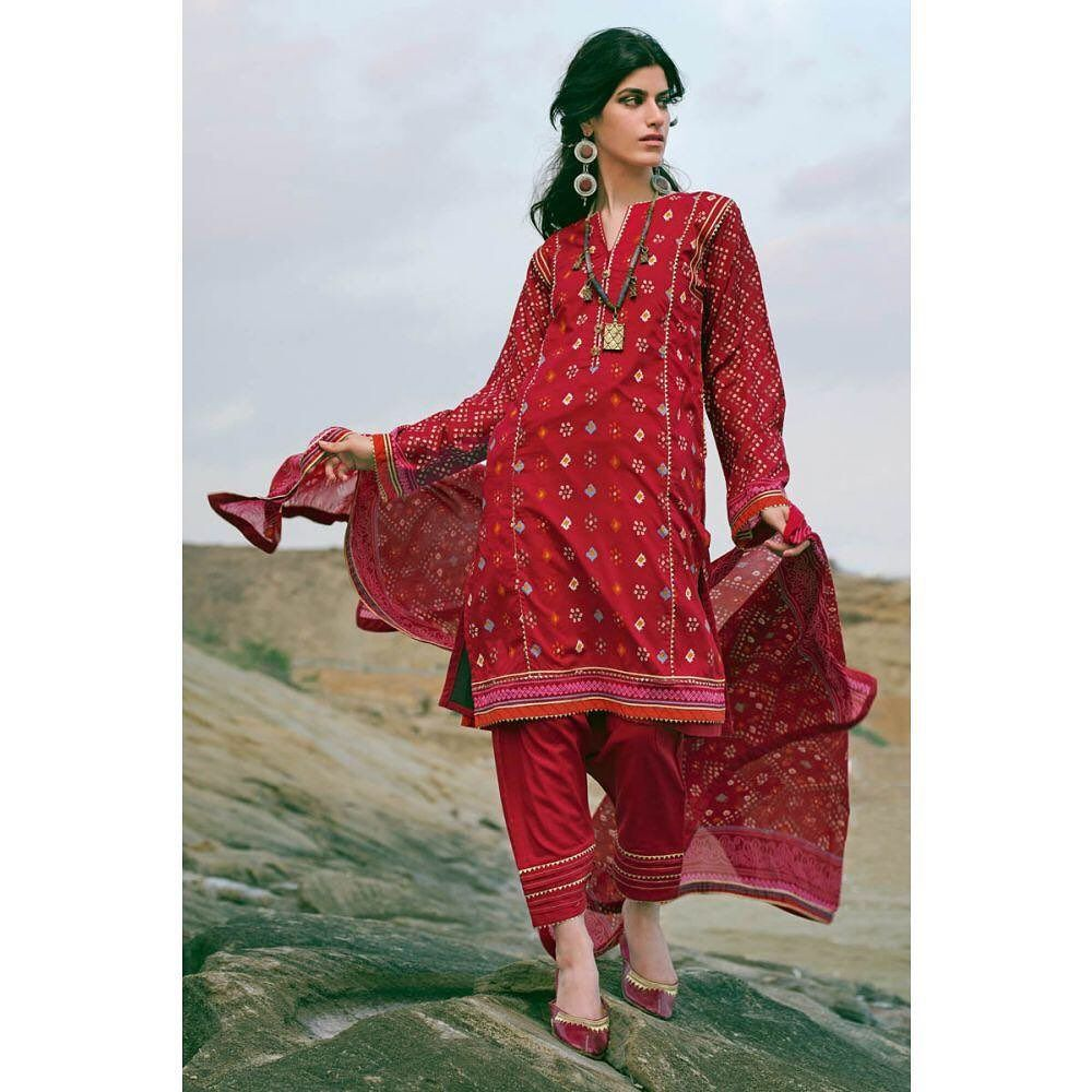 Gul Ahmed Summer Collection 2020 3PC Unstitched Lawn Suit ...