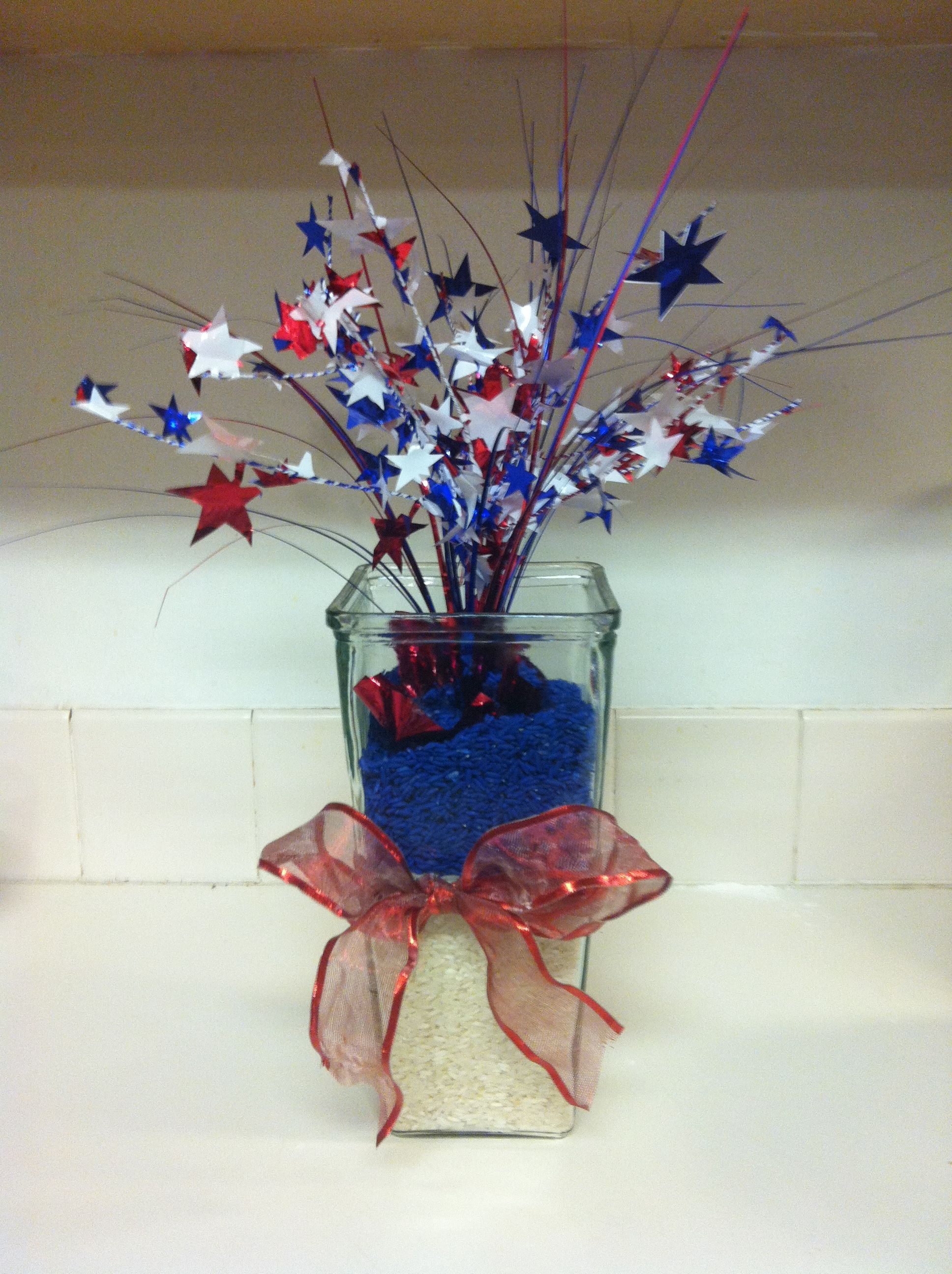 4th Of July Colored Rice And Dollar Tree Decoration July Colors
