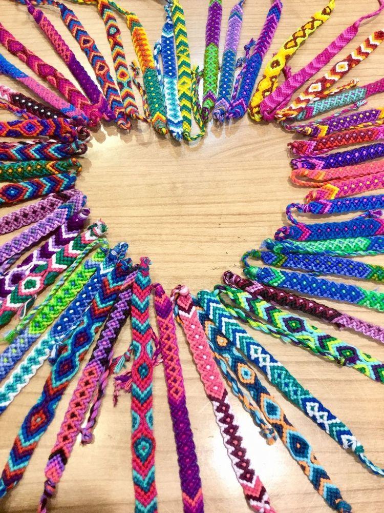 Friendship Bracelets Cotton Whole Bulk 25 Woven Fair Trade Gifts Uk Stock