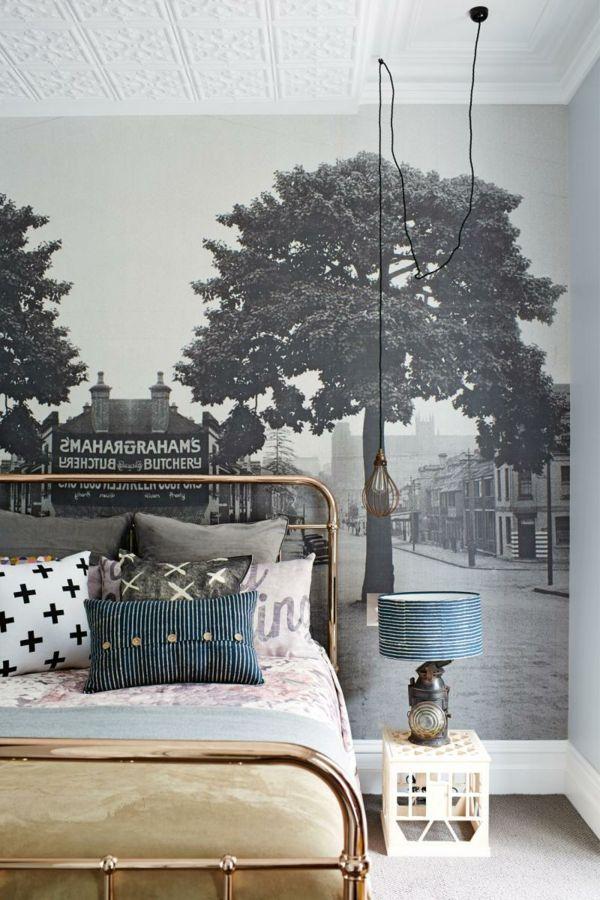 tapeten fototapete setzt akzente im schlafzimmer Wandgestaltung - moderne tapeten schlafzimmer