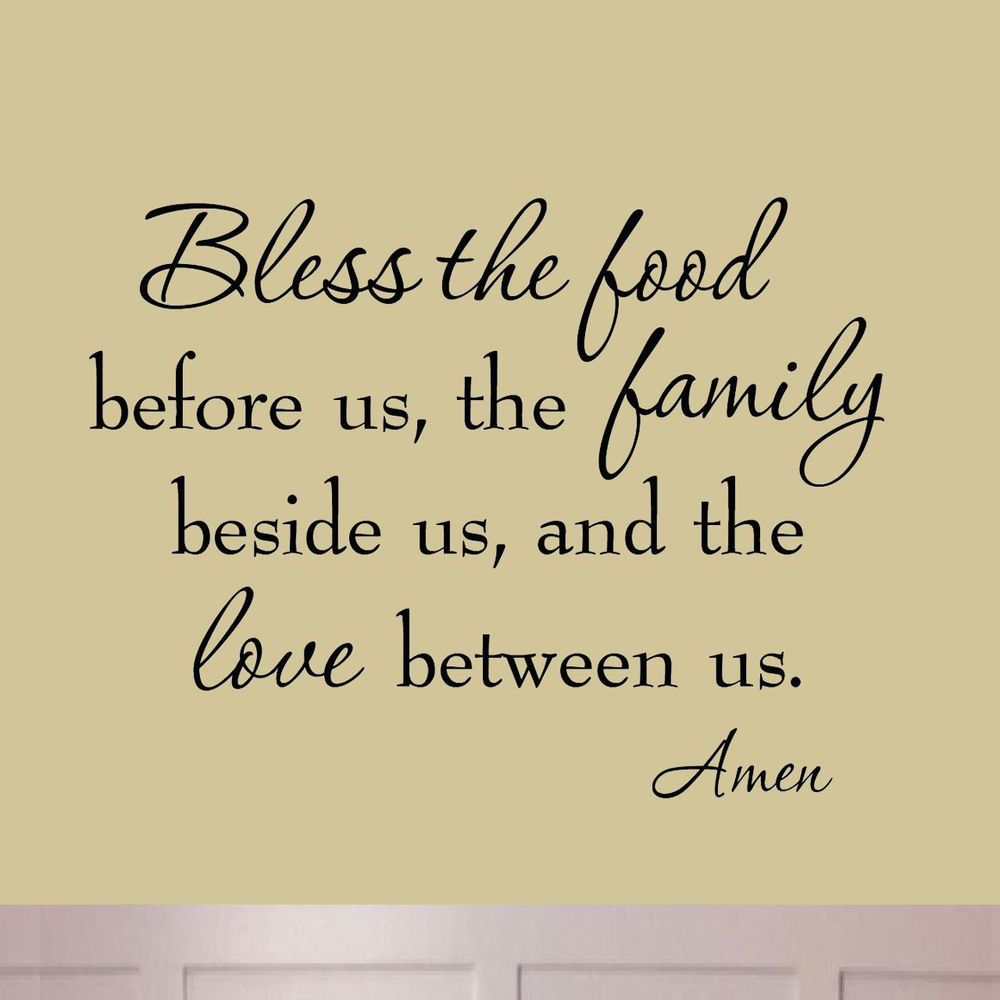 Details about Bless the Food Before Us #2 Dining Room Wall Decal ...