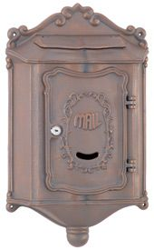 Residential Mailboxes Locking Wall Mount Colonial With Images Wall Mount Mailbox Mounted Mailbox Post Box Wall Mounted