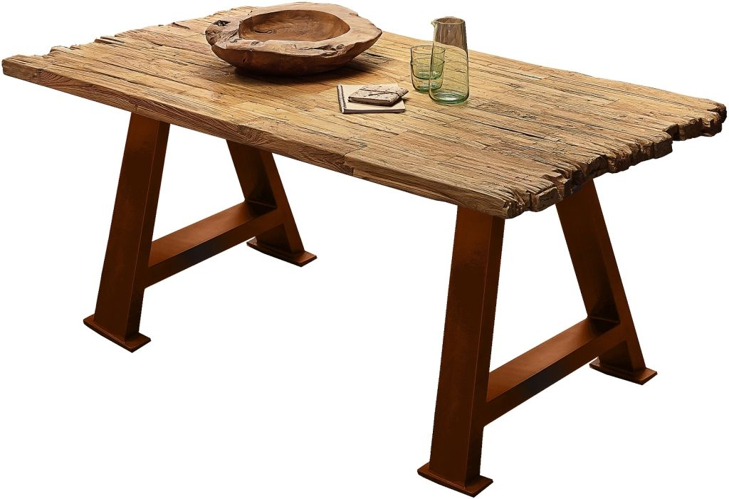 Esstisch 200 x 100 cm TOPS & TABLES rechteckig aus Teak