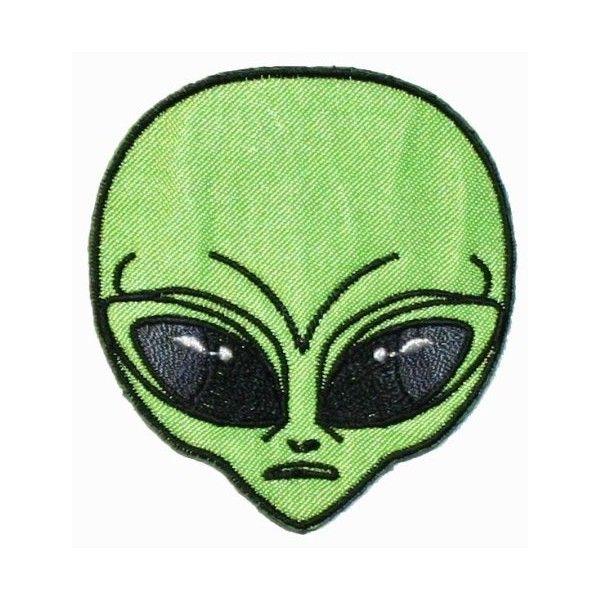 Green Alien Head Iron On Patch Alien Alien Tattoo Cute Alien