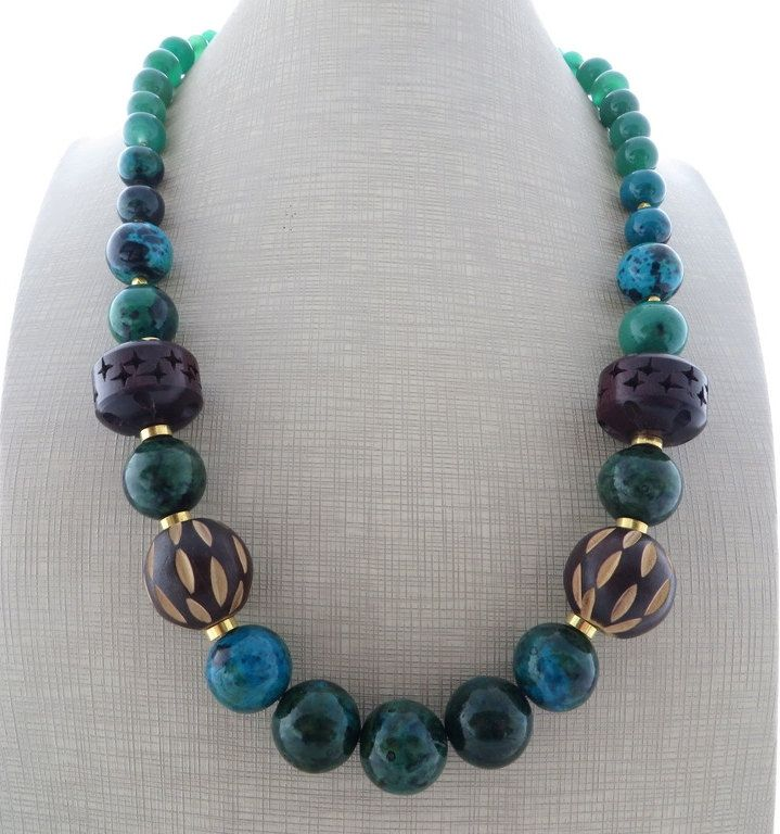 6ade8b862292 Green chunky necklace