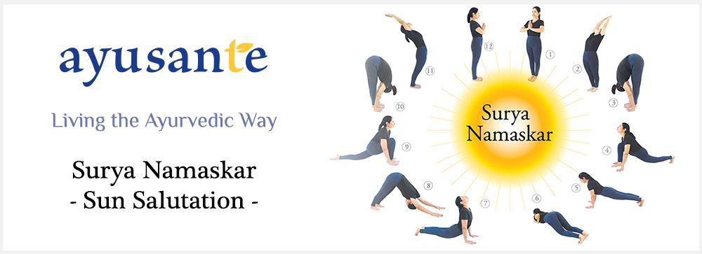 Sun Salutation Surya Namaskar Or Is A Sequence Of Twelve Yoga Postures That Has Multiple Benefits It Positive Effect On