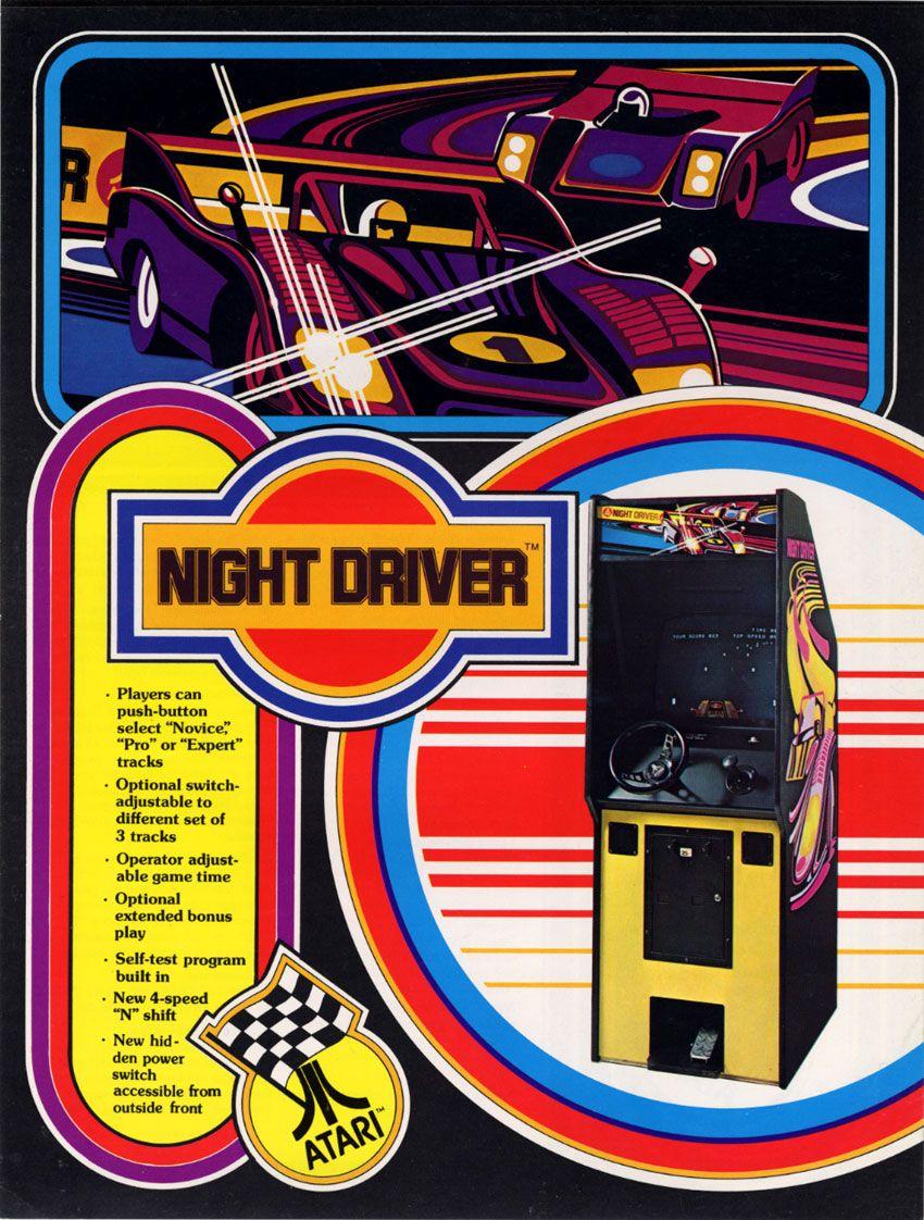 Night Driver by Atari 1976 Vintage video games, Arcade