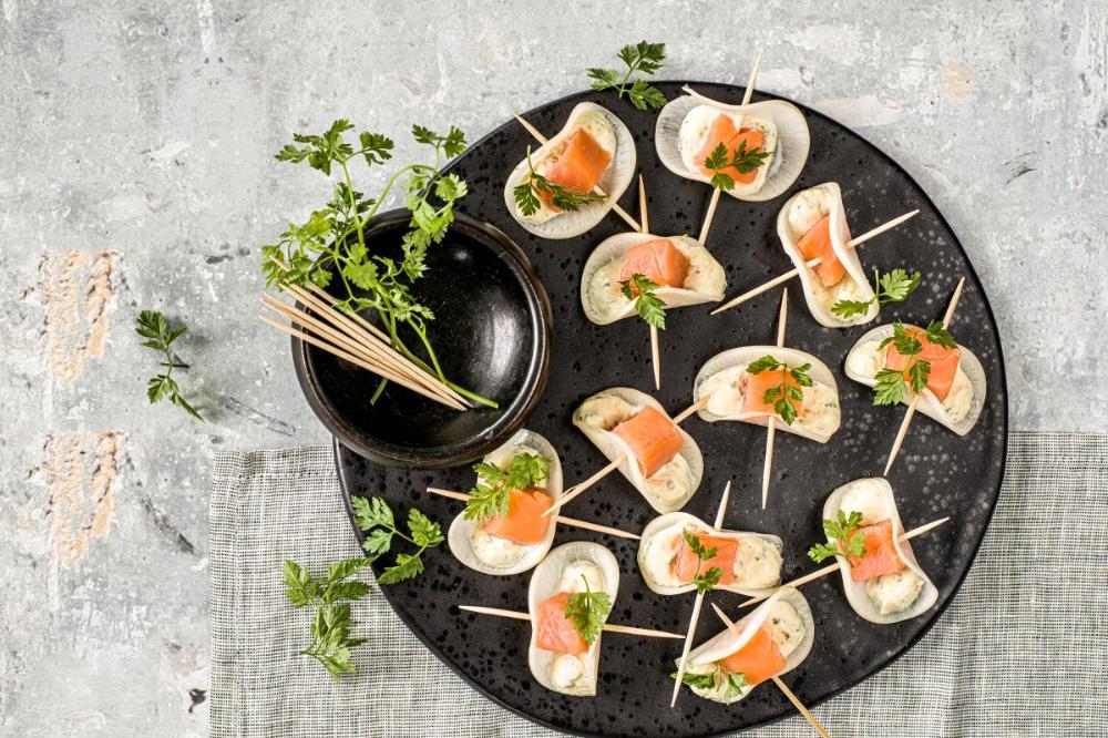 Rettich Happchen Mit Lachs Rezept In 2020 Happchen Rezepte Lebensmittel Essen