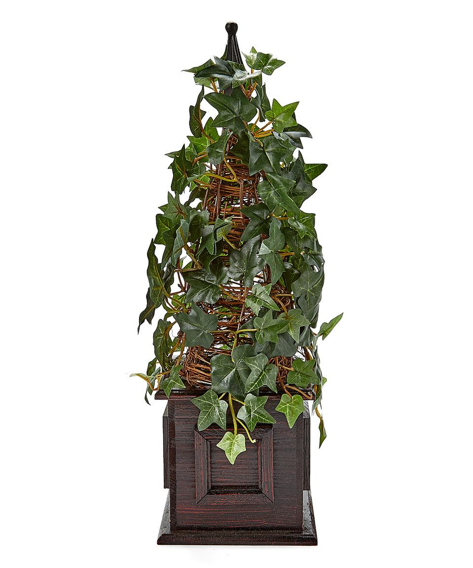 Another Great Find On Zulily Green Ivy Pyramid Topiary By Silk