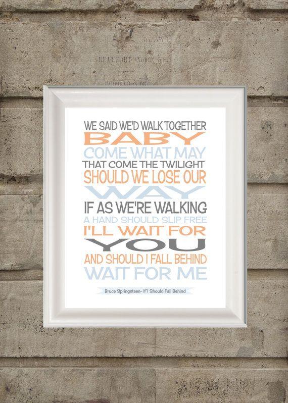 Pin By Celine Hampson On Domino Inspiration Springsteen Lyrics Song Lyric Print Fun Wedding Invitations