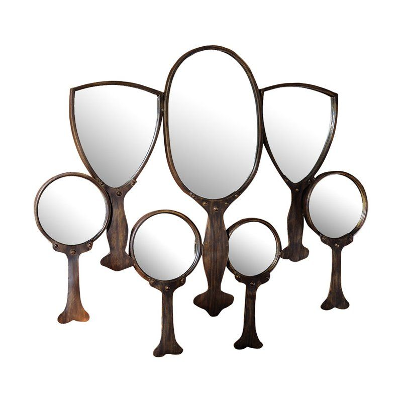 30 5 H X 31 W Reflective Gaze Hand Mirror Wall Du00e9cor By Design Toscano Mirror Wall Decor Mirror Wall Hand Mirror