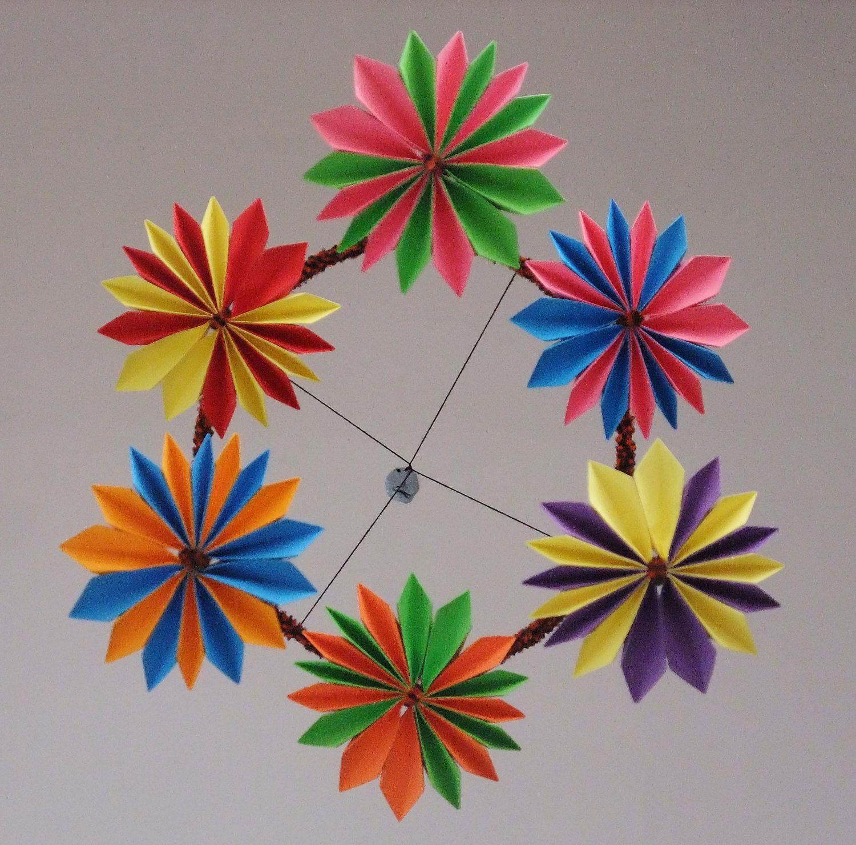 Origami Mobile Flower 1500 Via Etsy Mobiles Pinterest