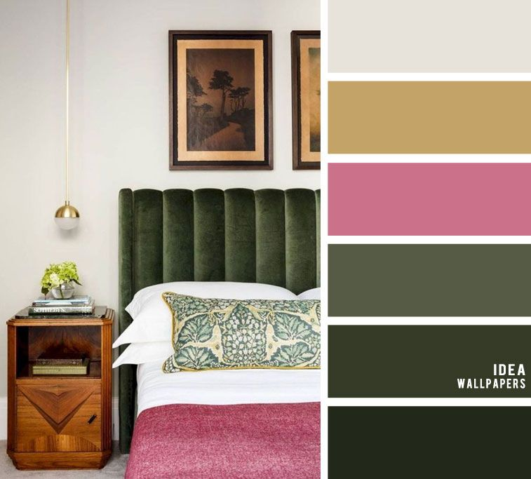 10 Best Color Schemes For Your Bedroom Dark Green Light Grey With Dark Pink Accents Gree Light Green Bedrooms Pink Accents Bedroom Bedroom Color Schemes