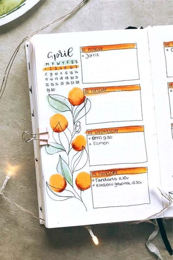 25 Bullet Journal Spread Ideas for April
