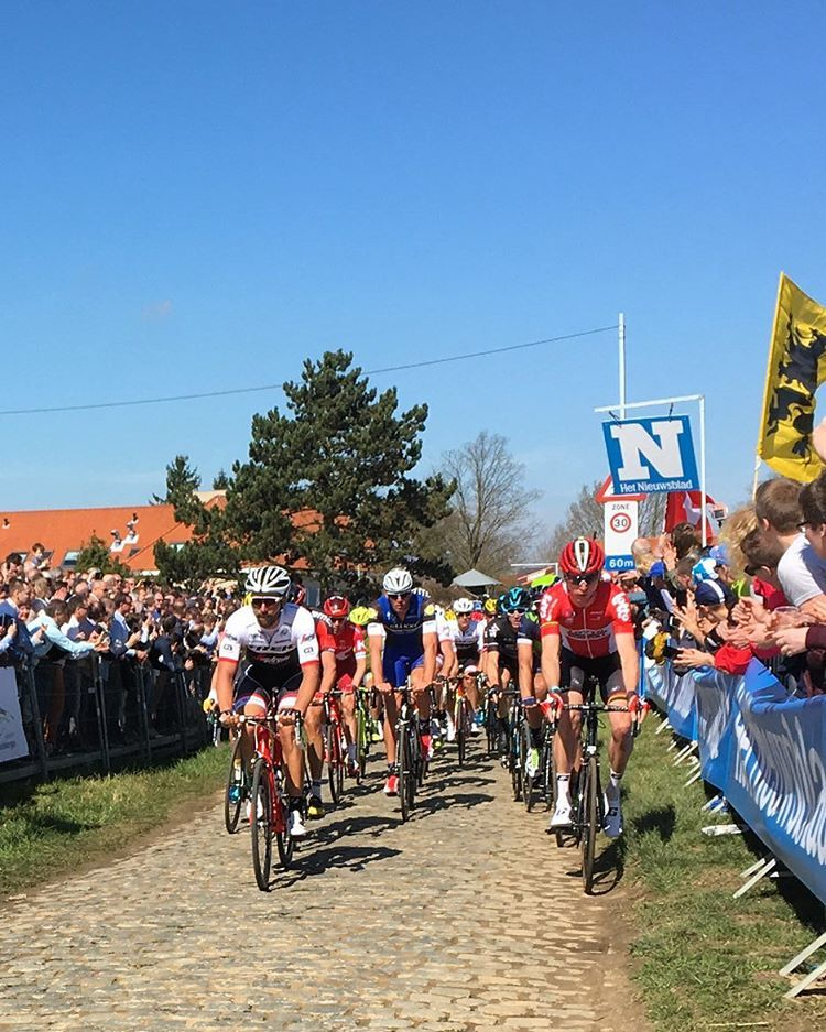 First ascent of the #Kwaremont.  #RVV