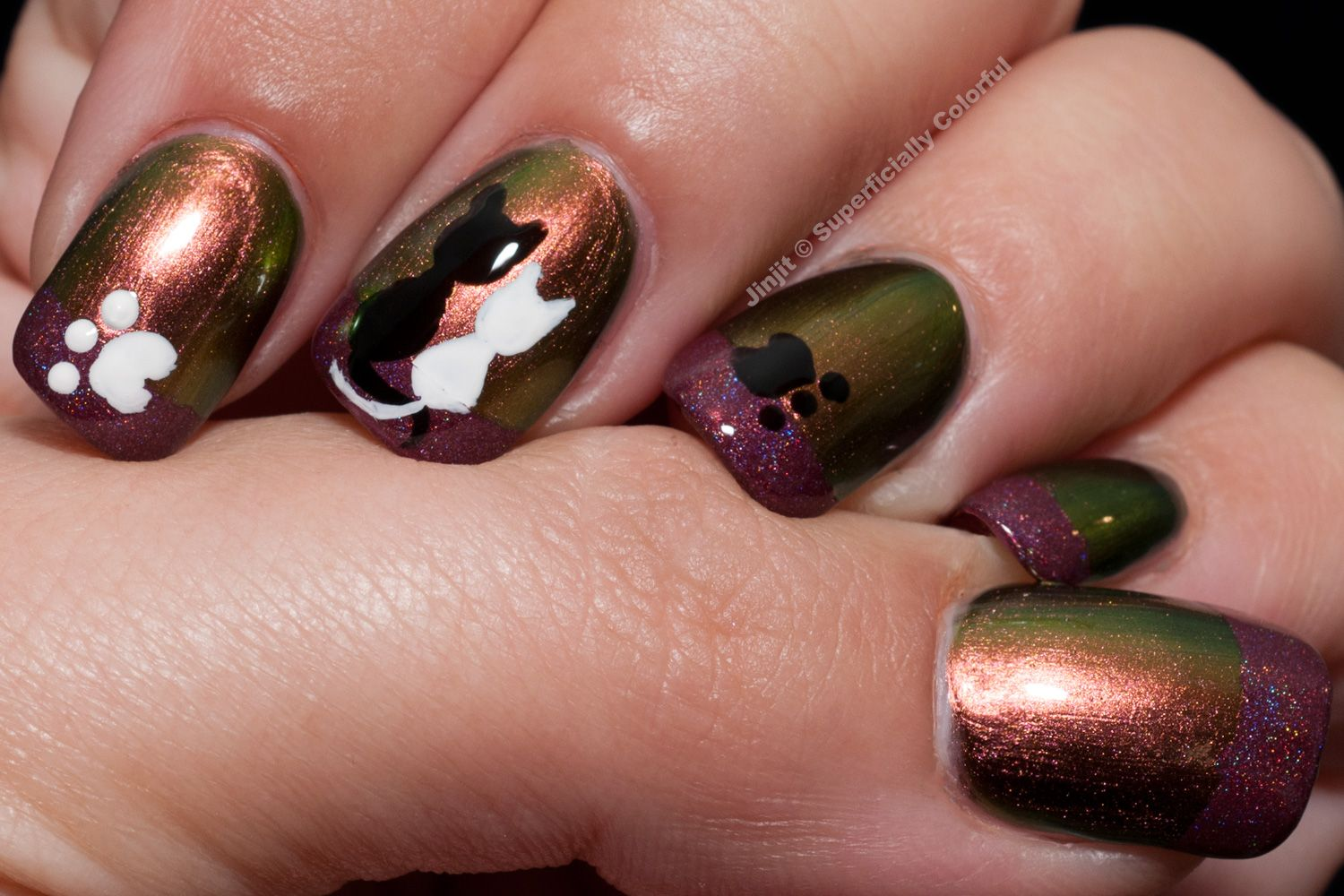 January Nail Art Theme Week: Follow a tutorial, day 3 - Kitties in ...