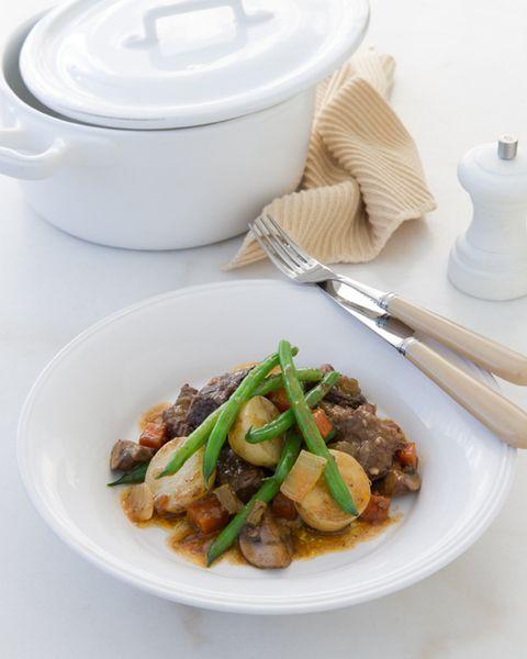 Bœuf au vin rouge - Plat sans viande, Cuisine francaise..