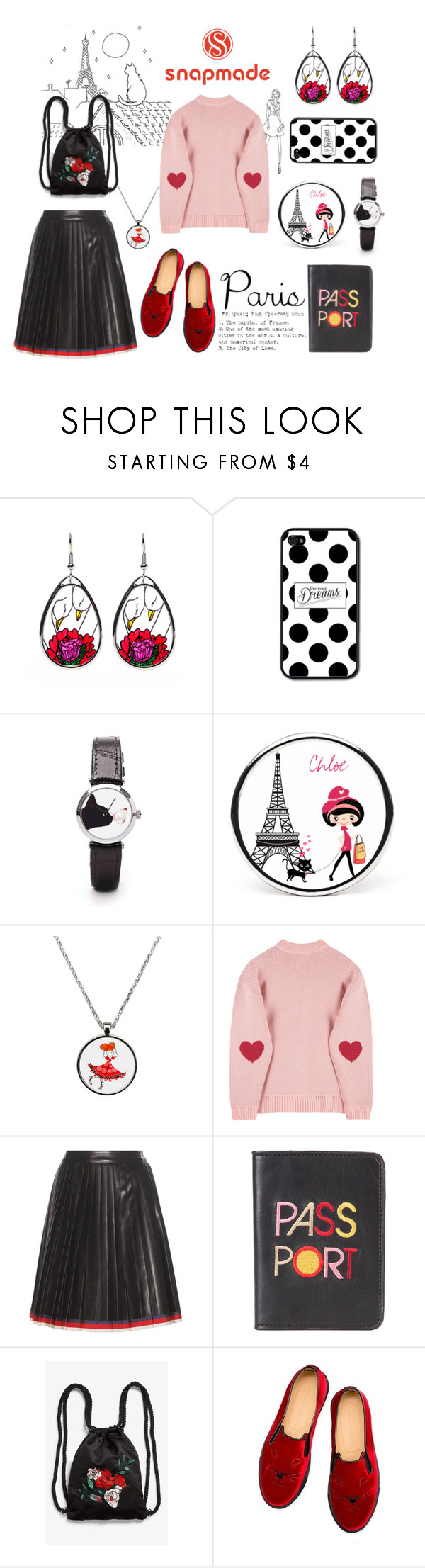 """WIN SNAPMADE $30 COUPON"" by tarparamu on Polyvore featuring moda, Gucci, Lizzie Fortunato, Monki e Charlotte Olympia"
