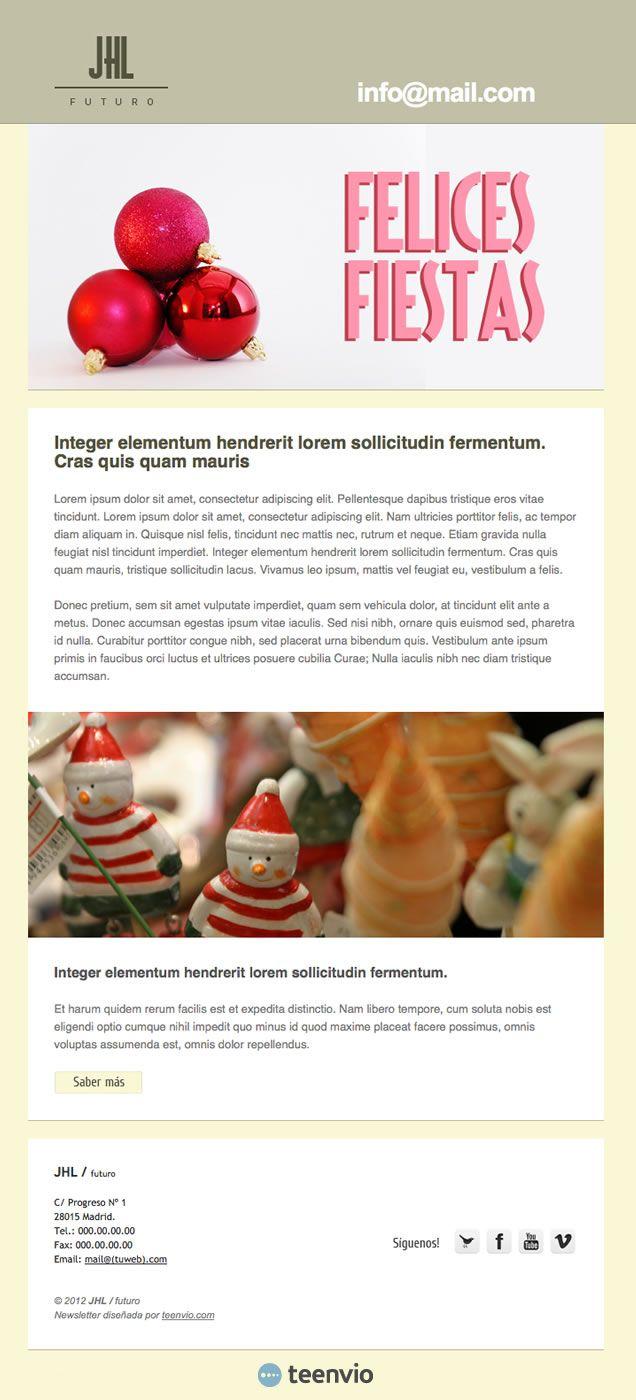 Felicita Navidad, plantilla HTML gratis para Newsletter en email ...