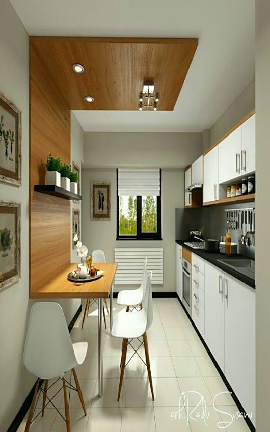 Little Or Galley Kitchen Narrow Dining Space Discover Under Why
