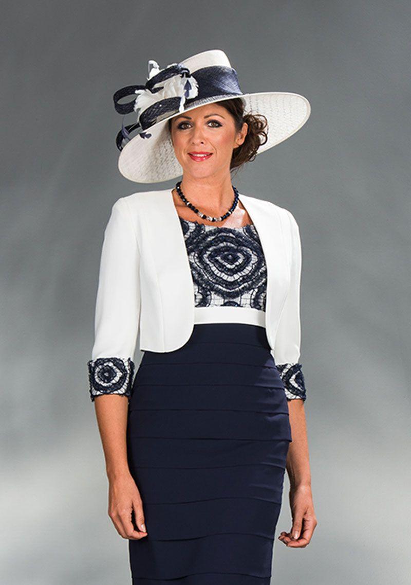 Navy and cream short dress & jacket Product Code: 29199 | things i ...