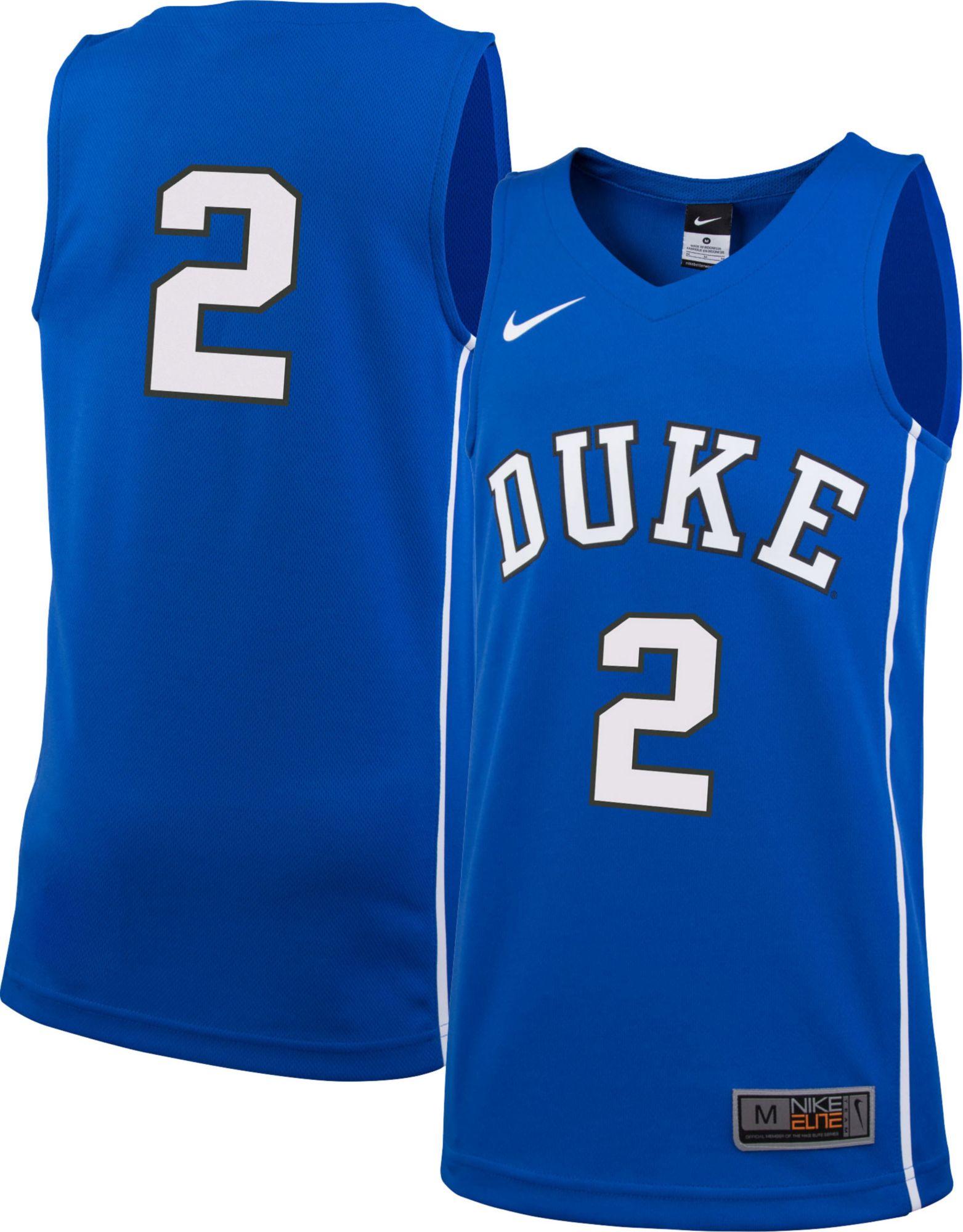 09ccfe121 Nike Youth Duke Blue Devils  2 Duke Blue Replica Basketball Jersey ...