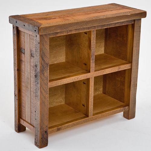Reclaimed Storage Cube Old Wood Bookcase Aged Display