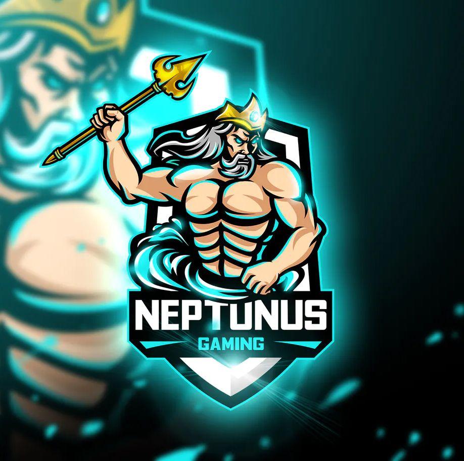Neptunus Gaming Mascot & Esport Logo Template Vector EPS